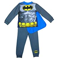 DC Comics Boys Batman Muscle Body Novelty Pyjamas with Cape Sizes from 2 to 8 Years
