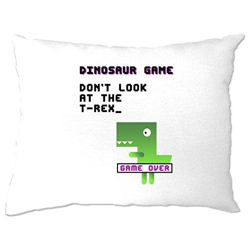 Der Dinosaurier T Rex Spiel 80er-Konsole von Visual Joke Print Logo-Design Kissenbezuge