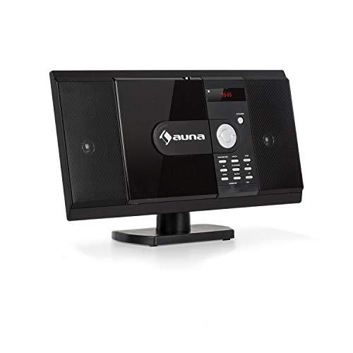 auna MCD-82 BT - Vertikal Stereoanlage, Kompaktanlage, Microanlage, DVD-, CD-Player, Bluetooth, USB-Port, SD-Slot, UKW Radio, HDMI, schwarz
