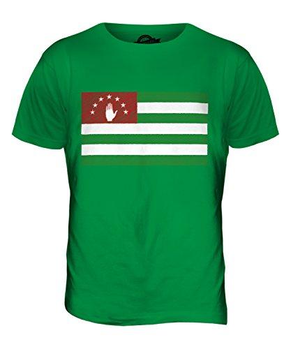 CandyMix Abchasien Kritzelte Flagge Herren T Shirt Grün