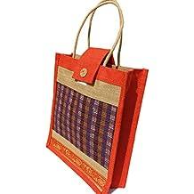 Eco Friendly Jute Lunch Bag - Popular Orange Colour