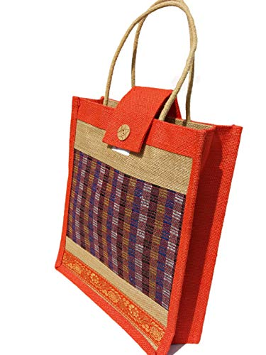 Eco Friendly Jute Lunch Bag – Popular Orange...