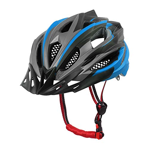 X-TIGER Cycle Helmet with Detachable Visor BMX Mountain Road Bicycle MTB Helmets Adjustable Cycling Bicycle Helmets for Adult Men&Women Outdoor Sport Riding Bike Fully CE Certified (Blue) - Womens Road-bike