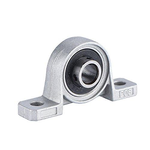 Richer-R Kugellager Blocklager, 8mm Bohrungsdurchmesser Vertikale selbstausrichtende Block Lager,Hochwertig Metall führen Schraube Rod Blocklager,Geeignet für 3D Drucker -