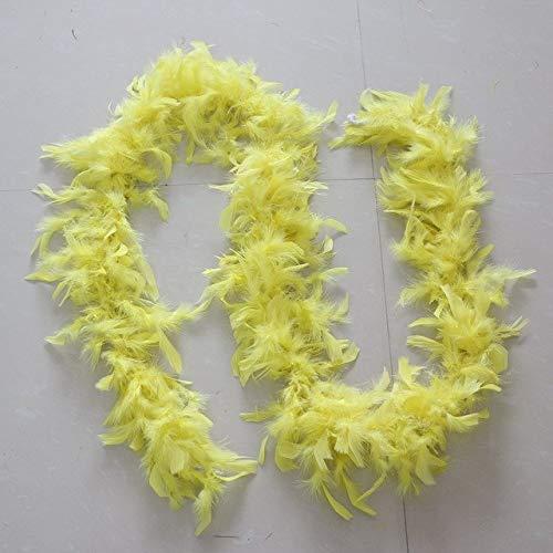 Shoppy Star Kleidungsaccessoires Truthahn-Feder, mehrfarbige Streifen, Flauschige Boa Happy Birthday Party Hochzeit Dekorationen Supplies: 13