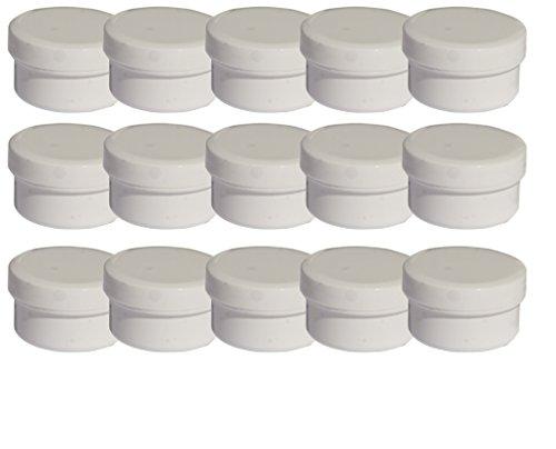 15 Salbendöschen, Creme-döschen, Salbenkruken weiß, 6ml Inhalt - MADE IN GERMANY