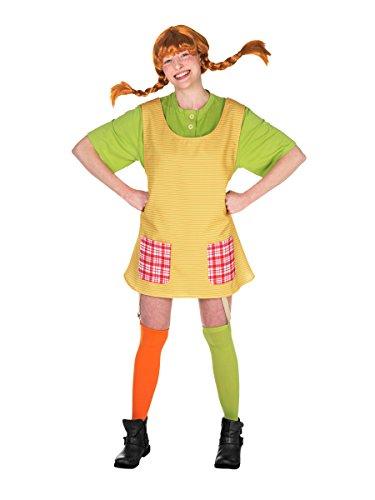 Pippi Kostüm Für Langstrumpf Erwachsene - KULTFAKTOR GmbH Pippi Langstrumpf Damenkostüm Lizenzware bunt M