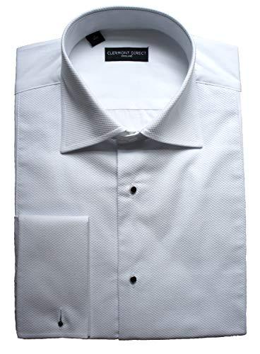 Clermont Direct Marcella Chemise en piqué 100 % coton avec col repliable Blanc Blanc