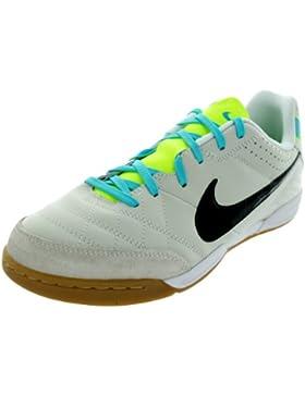 Nike JR Tiempo Natural IV LTR IC Hallen Fussballschuhe light bone-black-white - 35