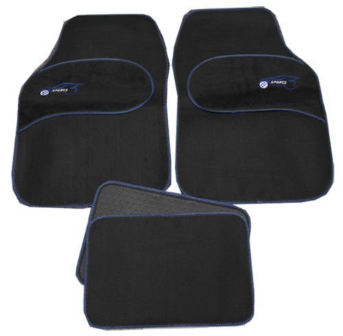 fiat-500-punto-uno-universal-blue-trim-black-carpet-cloth-car-mats-set-of-4