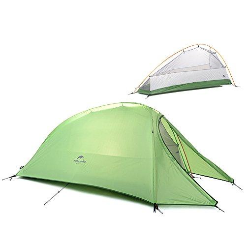 1 persona tenda doppio strato tenda da campeggio Outdoor Ultralight tenda 4 stagioni impermeabile tenda da campeggio per escursioni viaggi