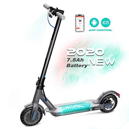 RCB Scooter Monopattino Elettrico Pieghevole velocità Massima Schermo LCD, 30km/h, 30Km di Autonomia, Motore 350W, Impermeabile, Batteria dura lu