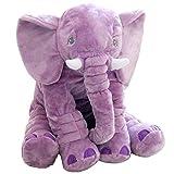YQ CLZ-Doudou Plüsch Lange Nase Elefant Puppe Kissen weiche Taille Spielzeug niedlichen Tier Elefant Kissen geeignet für Kinder (Lila)