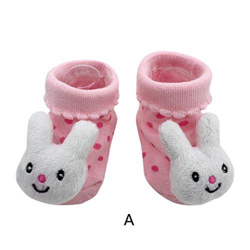 Vovotrade 15 verschiedene Karikatur Neugeborene Baby Jungen Anti Rutsch Socken Hefterzufuhr Schuh Aufladungen (A) (Baby-mädchen Neugeborenen-nike Schuhe)