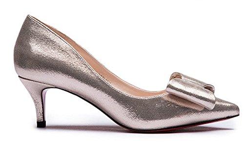Lady Scrubs asakuchi a fait bow chaussures en automne/Avec des chaussures à talon bas B