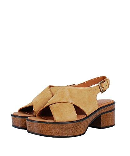 Vagabond Noor Natural Beige Sandal - Sandali Beige Pelle Scamosciata Beige