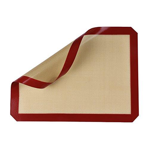 Le support de cuisson en silicone Belmalia pour les plaques de cuisson papier de cuisson fibre de verre 40x30cm Rouge Marron