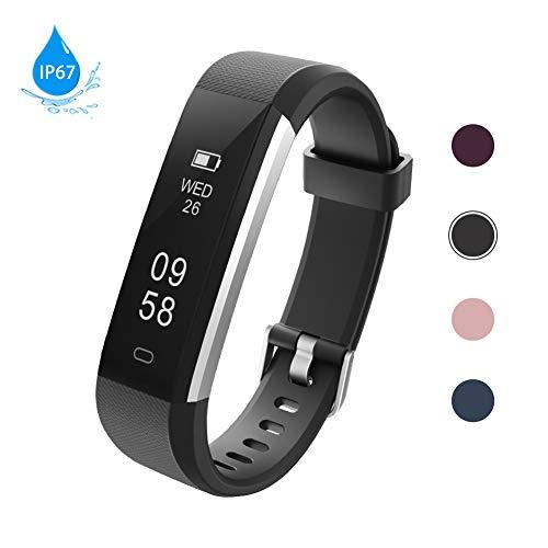 Lintelek Fitness Armband Aktivitätstracker IP67 Wasserdicht Schrittzähler Armbanduhr Smartwatch, Fitness Uhr Kalorienzähler für Damen Herren