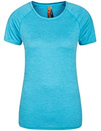 Mountain Warehouse Infinity Wicking Round Neck Womens Tee - Lightweight Ladies Tshirt, Quick Wicking, Flat Seams Summer Top - for Spring Travelling, Camping & Hiking