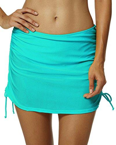 Ecute Womens Tankini Bottoms Swimming Skirt Beachwear