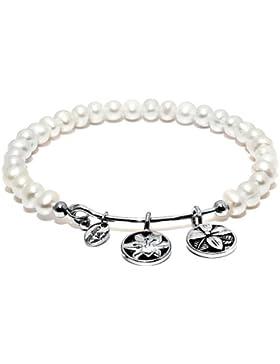 Bangle Blüte weiße Perle