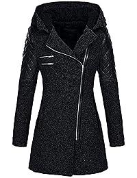 99native Manteau Femme Hiver Doudoune Femme Longue Duffle Coat Fourrure  Jacket Leather, Veste 2018 Mode 1e8a37160ca