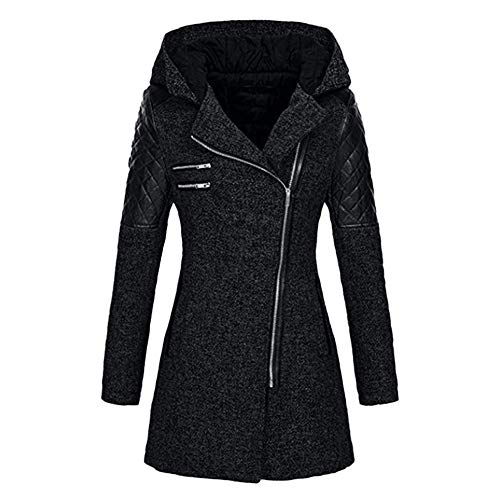OIKAY Winter Outwear Hooded Zipper Mantel Damen Warm Slim Jacke Dicke Parka Mantel Jacke Warme Winter-jacke