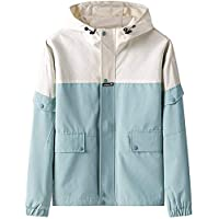 2020 Fashion Men's Hoodie Autumn Casual Hip Hop Splice Plus Size Zipper Pocket Hooded Thin Coat,Green,3X-Large