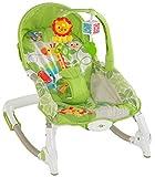 Jiada Newborn to Toddler Portable Rocker Bouncer with Selectable Vibrator Mode and Toys
