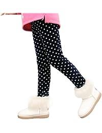 Muchachas de las polainas de los pantalones de los niños, RETUROM Pantalones de punto invierno niñas polainas gruesas elástico cintura Legging ropa de abrigo de venta caliente