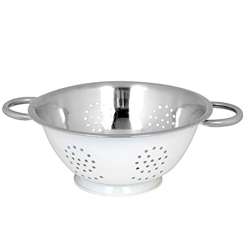 twin-handle-colander-by-kosma-mirror-finish-interior-with-ivory-colour-exterior-premium-tableware-in