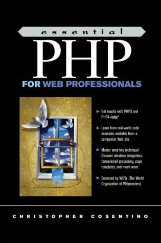 Essential PHP for Web Professionals by Christopher Cosentino (2000-10-01)