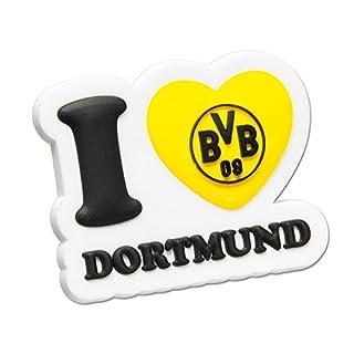 BVB Magnet 3D I Love Dortmund, Kunststoff, Schwarz/gelb/weiß, 5 x 5 x 2 cm