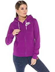 Nike Sudadera con capucha Rally Full Zip, Bold Berry/blanco, XL, 585717 – 550