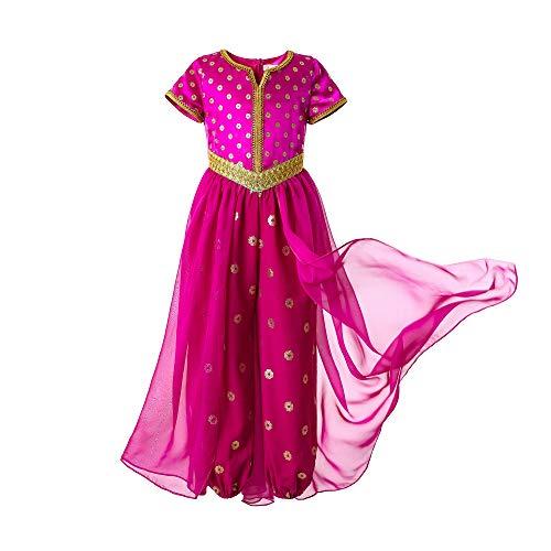 Pettigirl Mädchen Rosa Prinzessin Jasmin Kostüm für Kinder 7-8 Jahre