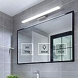 Yafido Applique da bagno LED 40CM Lampada Specchio Bagno Interno Moderno Bagno Luce per Trucco 9W Bianca Fredda 6000K 800LM Non-dimmerabile