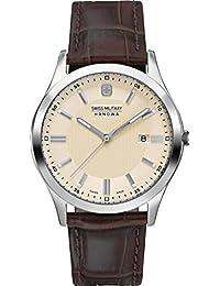 Swiss Military Hanowa 06-4182.04.002 - Reloj para hombres, correa de cuero color marrón