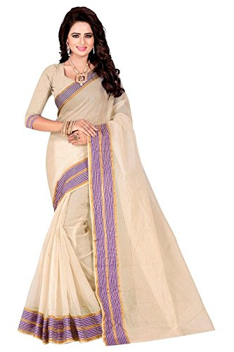 J B Fashion Women's Cotton Saree (Pcs-249A_Red)