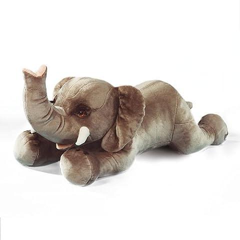 Elefant Riesen-Kuscheltier - liegend, 150 cm - Plüschtier von Steiner - handgefertigt in Deutschland - XXL Kuscheltier