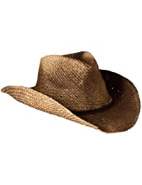 f211c540764 Gamble   Gunn Vintage Style Unisex Cowboy Hat - Brown Straw With Shapeable  Brim