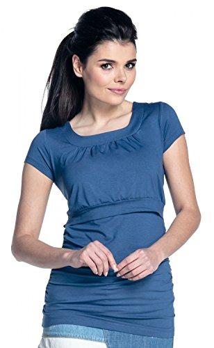 Zeta Ville - T-shirt de grossesse couches allaitement buste froncé - femme 136c Jeans