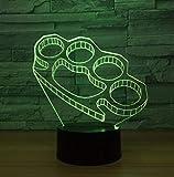 Luce Notturna, Lampada Da Notte, Manette Decorazione Illuminante 3D Regali Per Amici Led Usb Per Regali Per Bambini Camerette Per Bambini