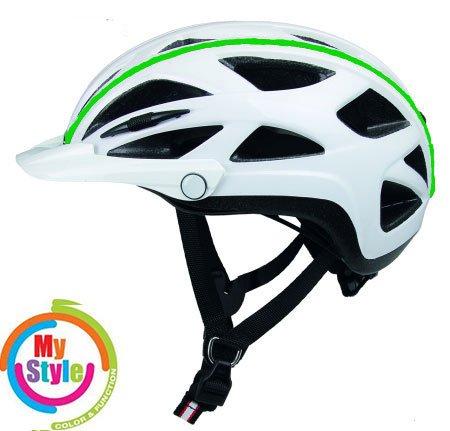 Casco Activ-TC weiss Biese grün, Fahrradhelm, MTB Helm, Cityhelm (weiss Biese grün, M (52-58))