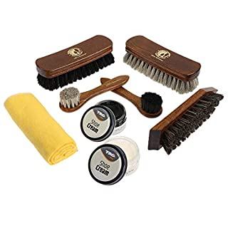 Langlauf Premium 100% Horsehair Shoe Care Kit with Brushes and Shoe Creme. Professional and exquisite shoe shine kit Schuhbedarf.