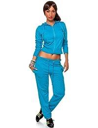 CHICK REBELLE - Pantalon de sport -  - Relaxed - Uni - Manches longues Femme -  Turquoise - Türkis - S