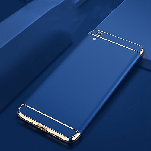D-kandy 3 In 1 Electroplated Bumper PC Hard Back Cover Case For Vivo Y51 Y51L - Blue