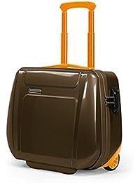 Cartella Piquadro Odissey marrone e arancio porta computer con trolley system e lucchetto TSA CA2334OY/MARO