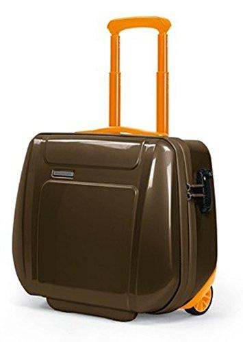 Cartable porte-ordinateur avec système trolley et fermeture de sécurité Piquadro Odissey brun/orange CA2334OY/MARO