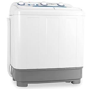 oneConcept DB004 • lavatrice • mini-lavatrice • per campeggiatori • per single • studenti • capacità di lavaggio da 4,8 kg • potenza 380 watt • capacità spin 160 W • 2 programmi • bianco