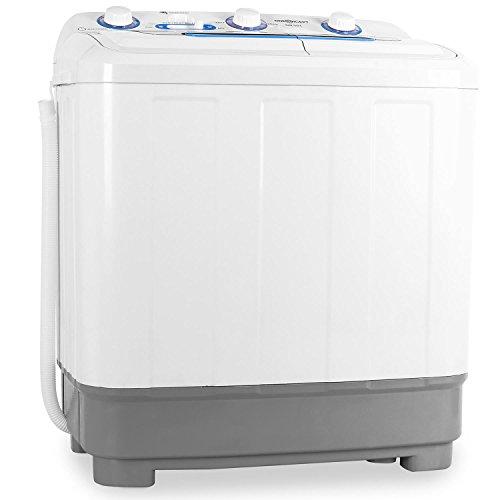 oneConcept DB004 • Mini-Waschmaschine • Camping-Waschmaschine • Waschmaschine für Singles • 4.8kg Volumen • Wäscheschleuder • 380 W Waschleistung • 160 W Schleuderleistung • Timer • weiß